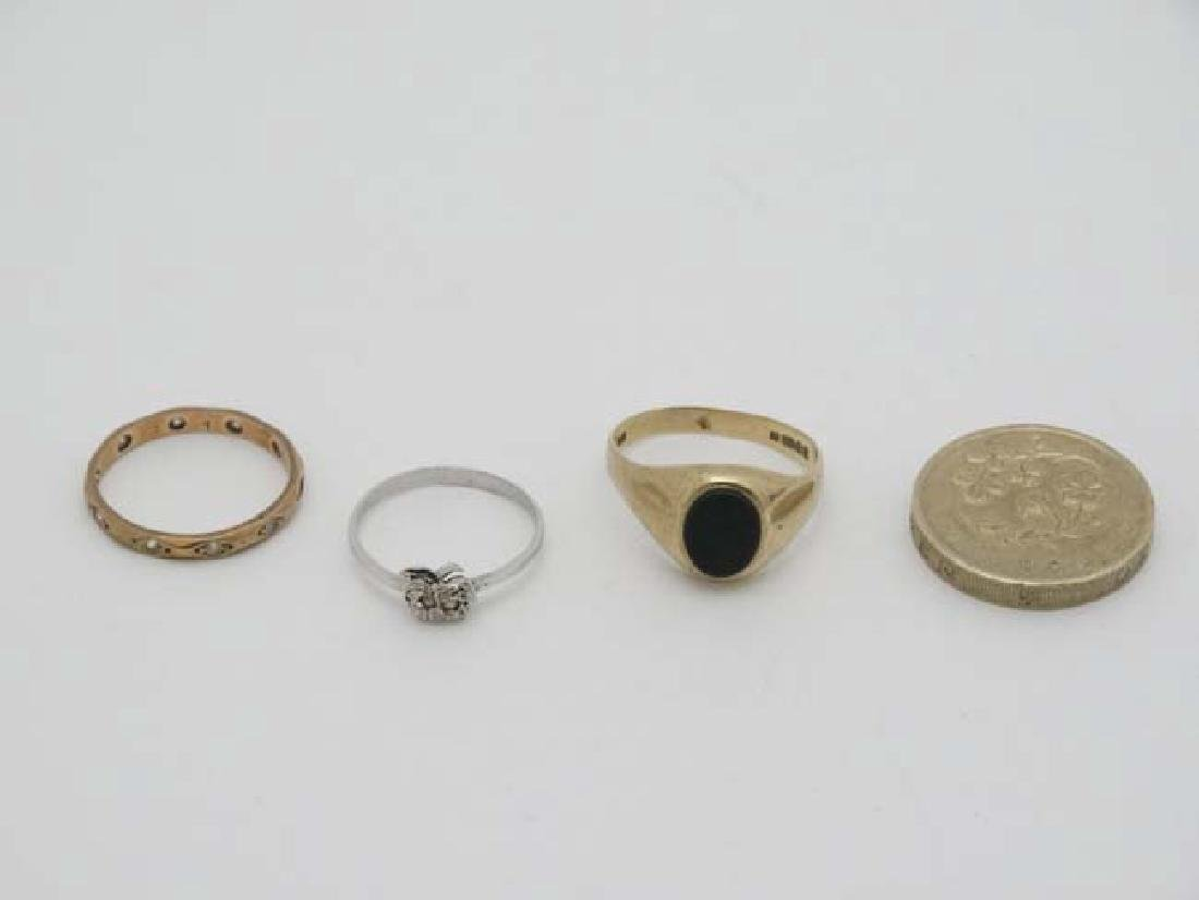 3 various rings to include 2 marked 9ct. (3) - 3