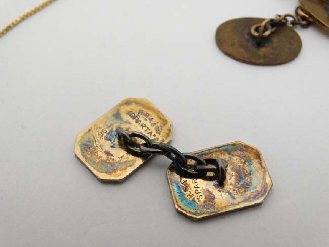 Assorted 9ct gold and gilt metal jewellery to include - 7