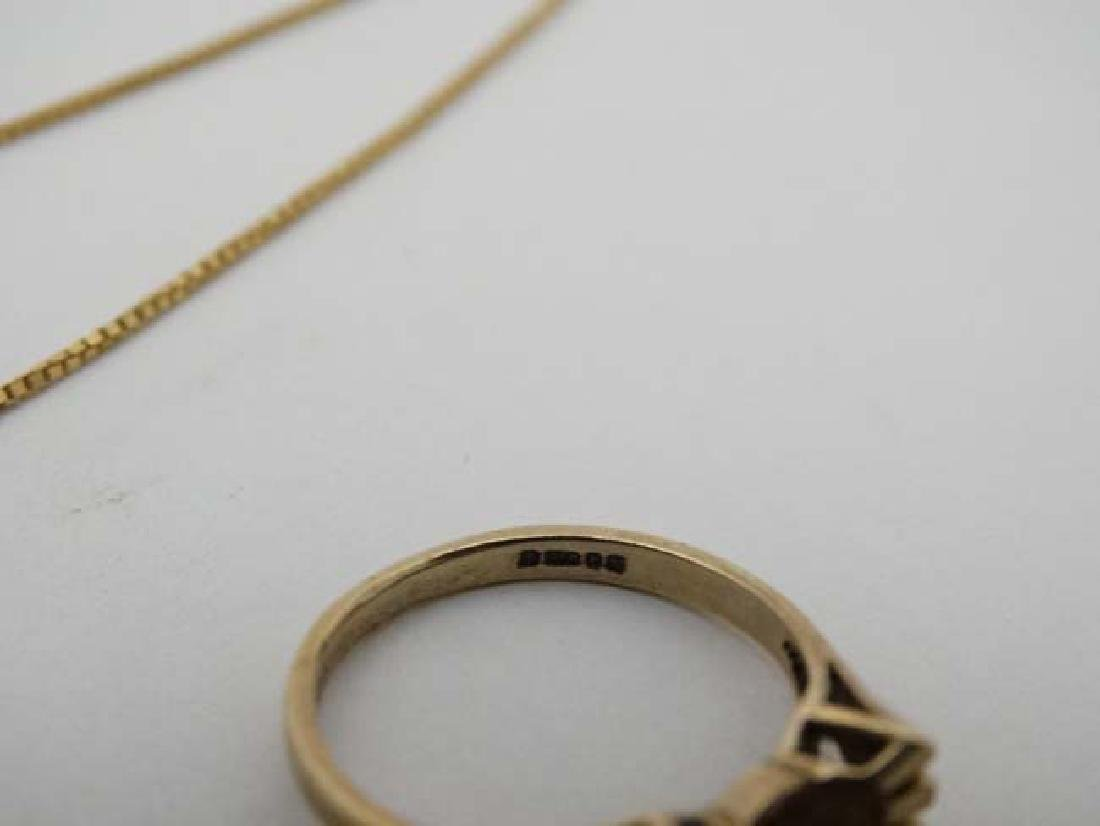 Assorted 9ct gold and gilt metal jewellery to include - 9