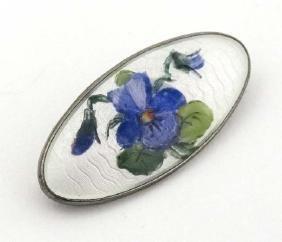 Scandinavian Silver: A Norwegian silver brooch with