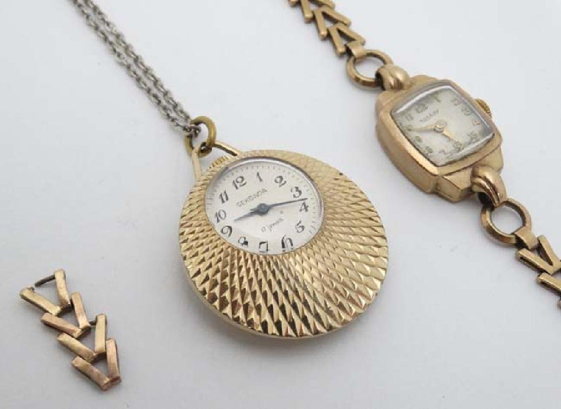 .375 Gold Rotary watch and a Gold plated pendant watch