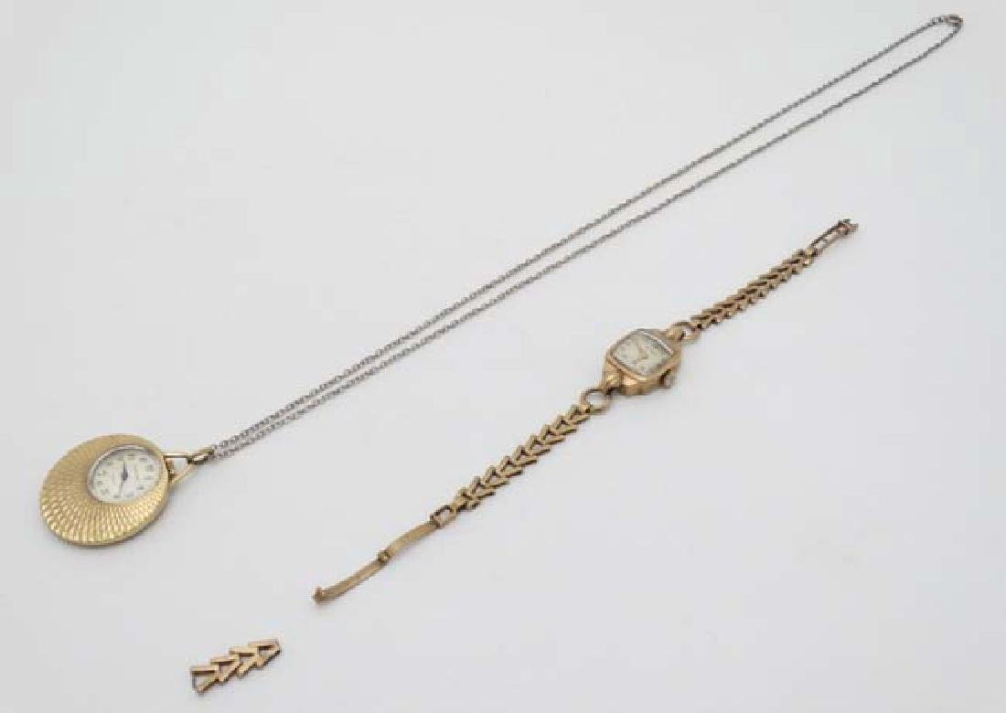 .375 Gold Rotary watch and a Gold plated pendant watch - 3