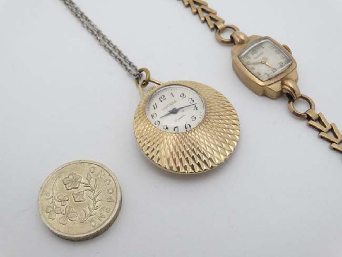 .375 Gold Rotary watch and a Gold plated pendant watch - 4