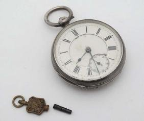 Pocket Watch : A silver cased Key wind Pocket watch