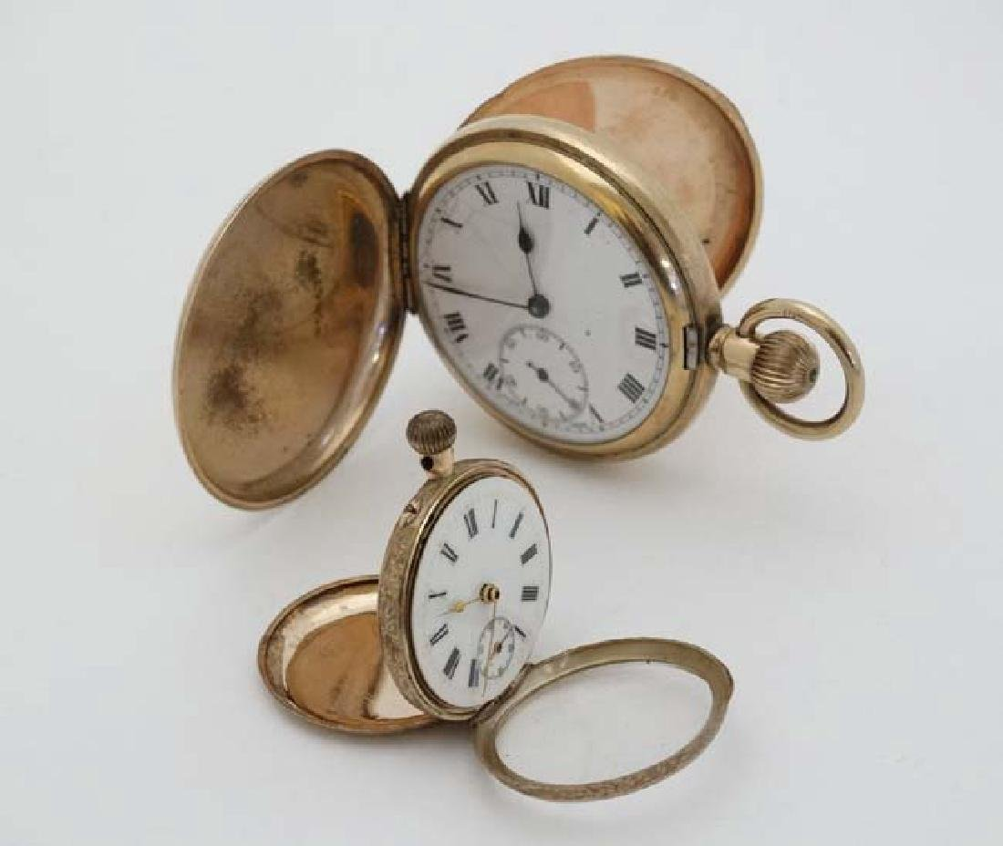 Gold and Gold plated pocketwatches : a Gold plated full