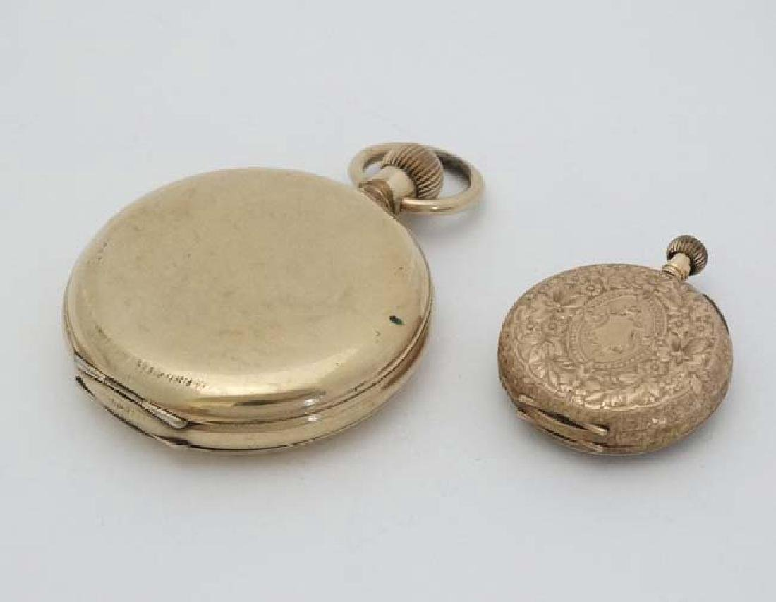 Gold and Gold plated pocketwatches : a Gold plated full - 2