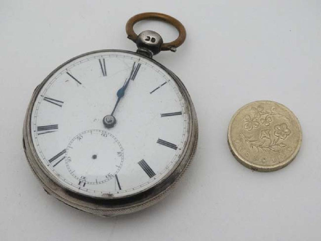HM silver cased Fusee pocketwatch : 'AD  1851 ' - 2