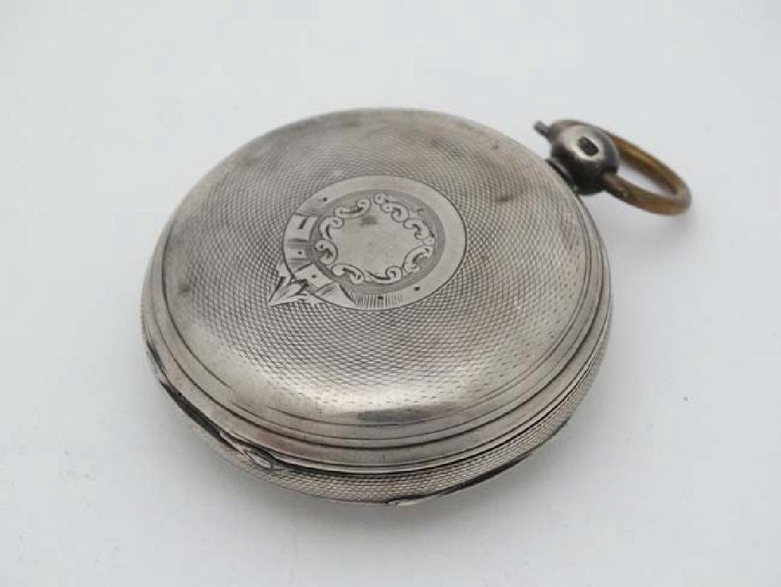 HM silver cased Fusee pocketwatch : 'AD  1851 ' - 4