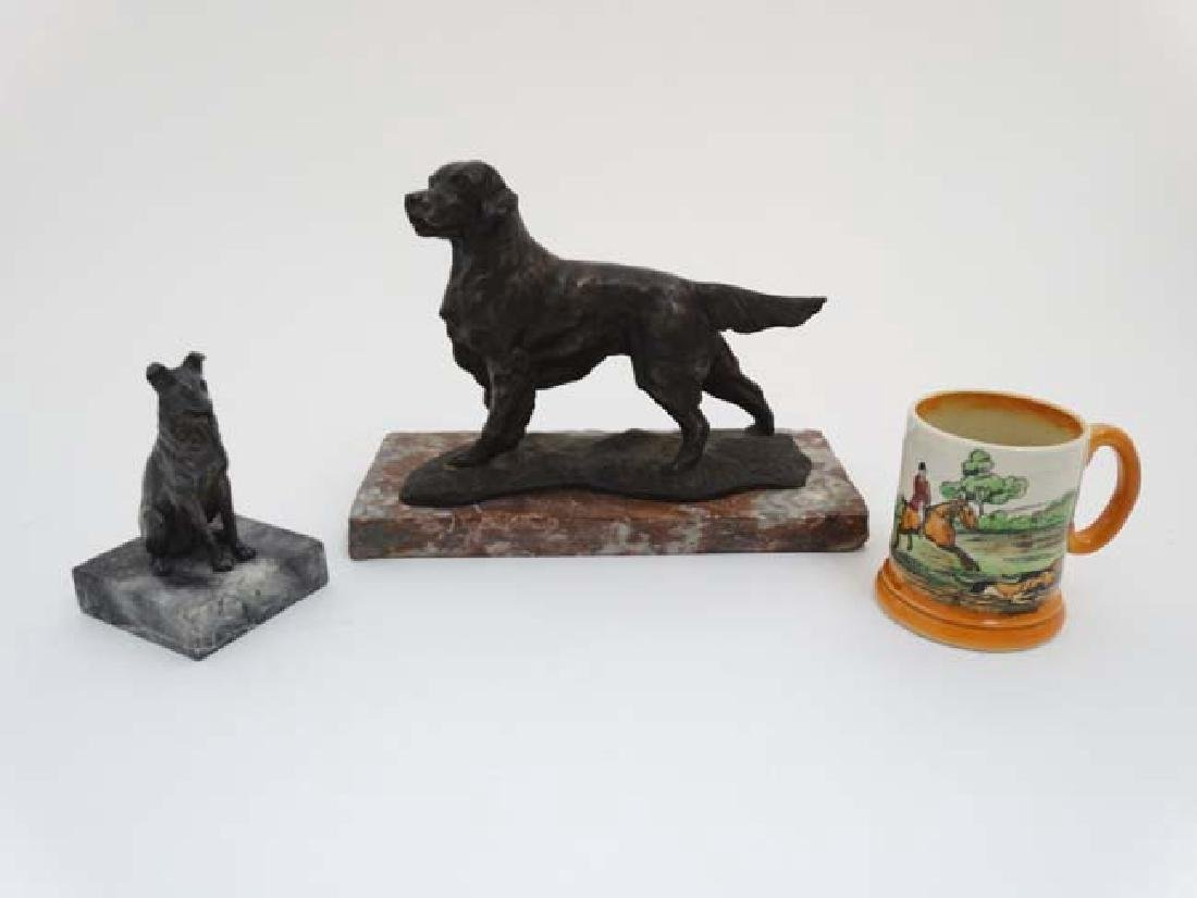 Gun Dog : a bronzed sculpture of a Labrador Retriever