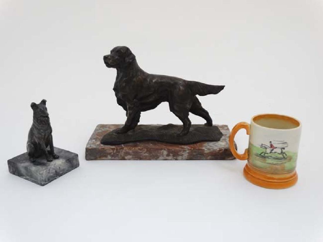 Gun Dog : a bronzed sculpture of a Labrador Retriever - 3