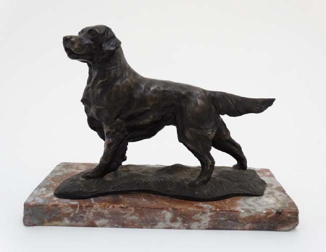 Gun Dog : a bronzed sculpture of a Labrador Retriever - 4