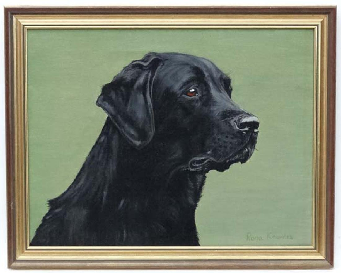 Rona Knowles c.1982 Oil on canvas , Canine School Black