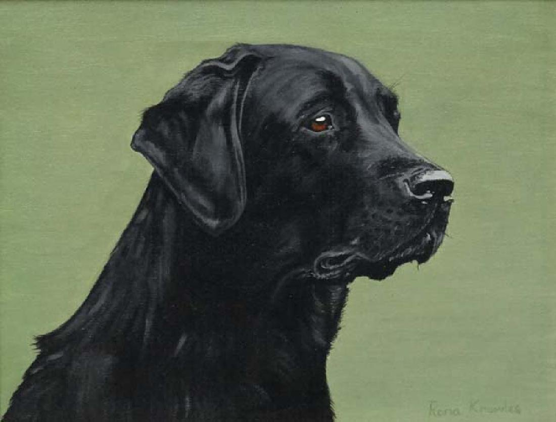 Rona Knowles c.1982 Oil on canvas , Canine School Black - 3