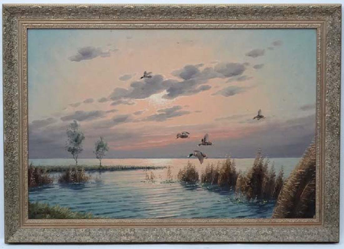 Wild Fowling : G Brouwer  XX Oil on canvas Incoming