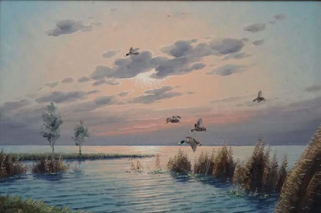 Wild Fowling : G Brouwer  XX Oil on canvas Incoming - 3