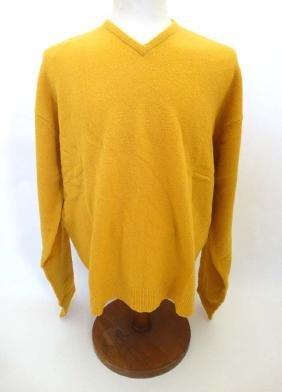 Laksen 'Astor Knit' Jumper in yellow, size 2XL.