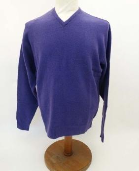 Laksen 'Astor Knit' Jumper in Purple, size M.