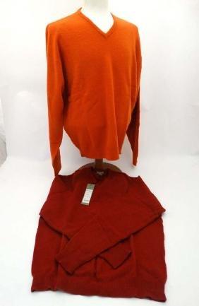 A Laksen 'Astor Knit' Jumper in Garnet, size 2XL,
