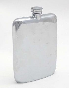 A silver plate hip flask by James Dixon Sons of