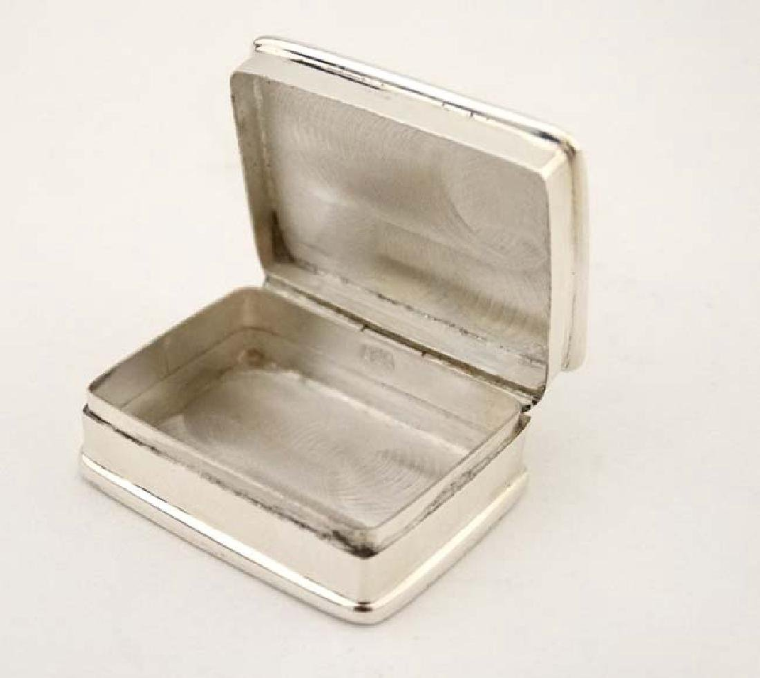 A .925 silver pill box with hinged lid depicting enamel - 6
