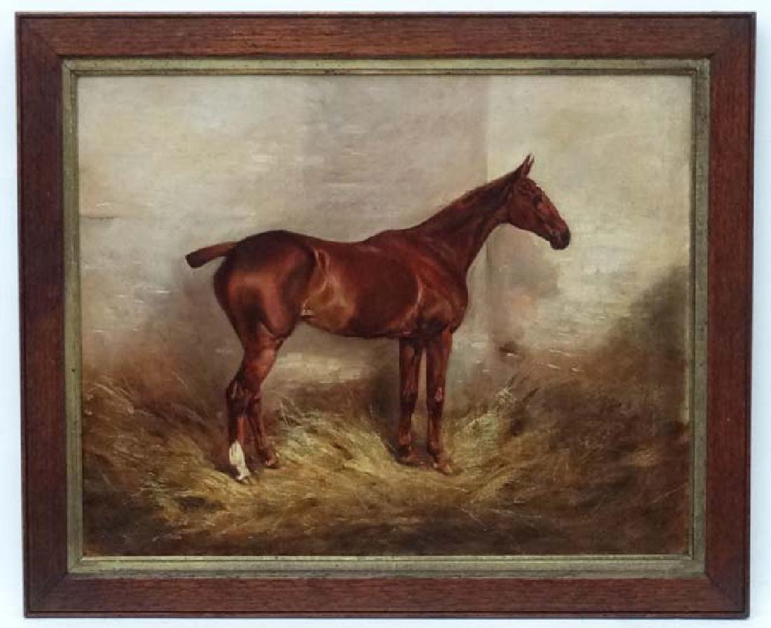 E Tudor XIX-XX Equine School Oil on canvas Portrait of
