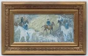 Manner of Sir Alfred Munnings, XX,  Mixed media on