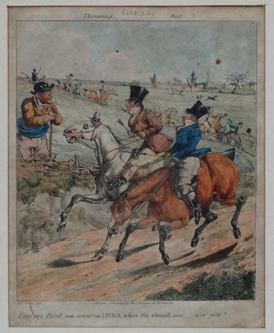 Hy Alken early XIX, Hand coloured Hunting engraving, ' - 3