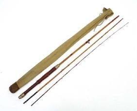 Antique Trout Fly Fishing : A 19 th C 3 pce 8' 6'' cane