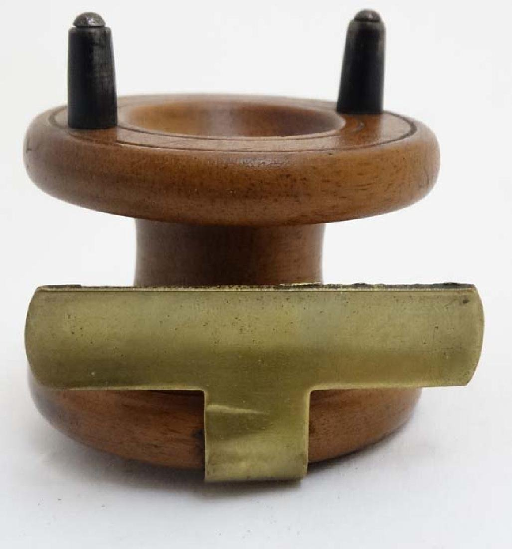 Fly Fishing : An old mahogany and brass 2 3/8 ''reel - 2