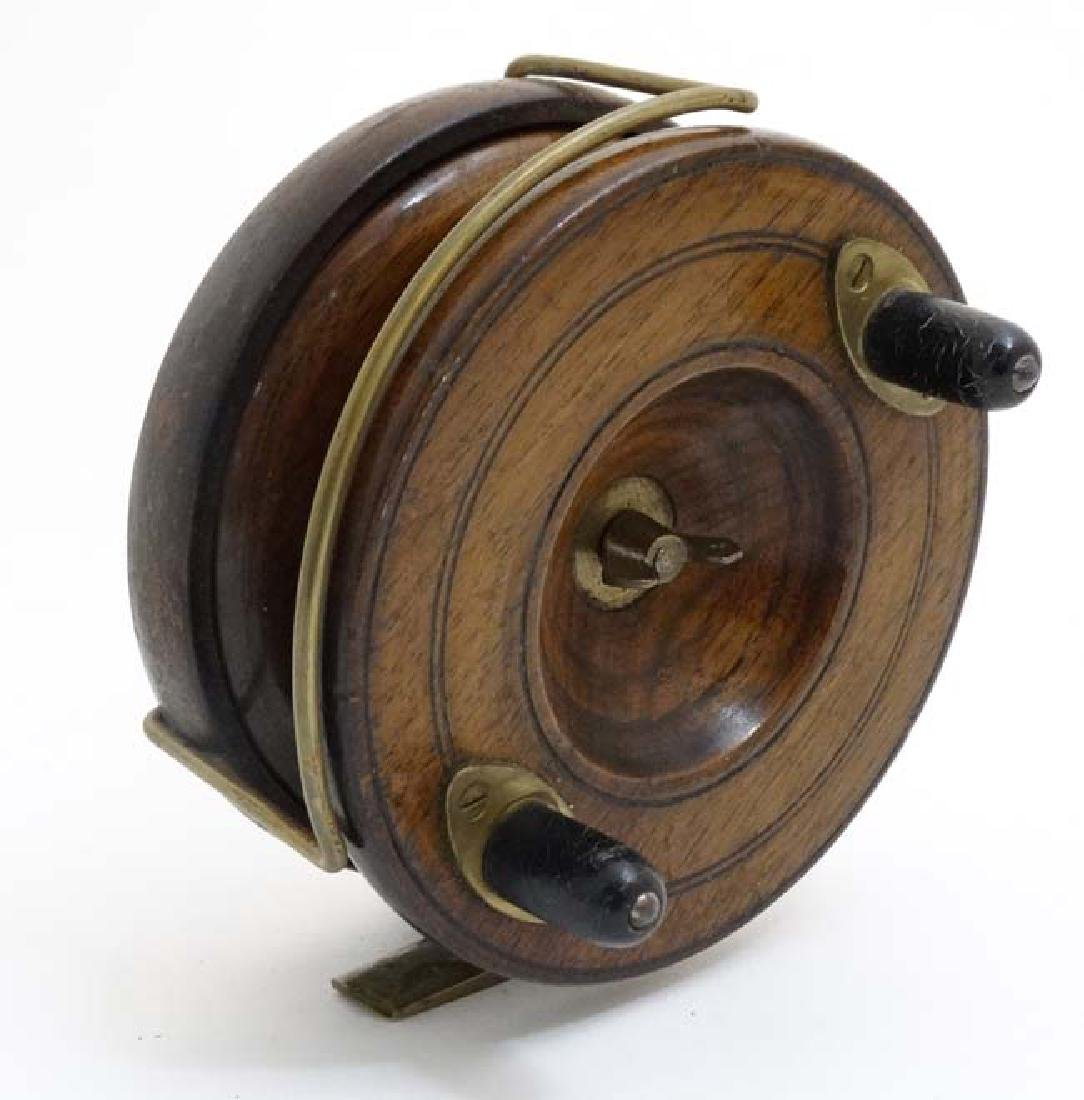 Fly Fishing : An old Salmon Fly Fishing Reel, a brass