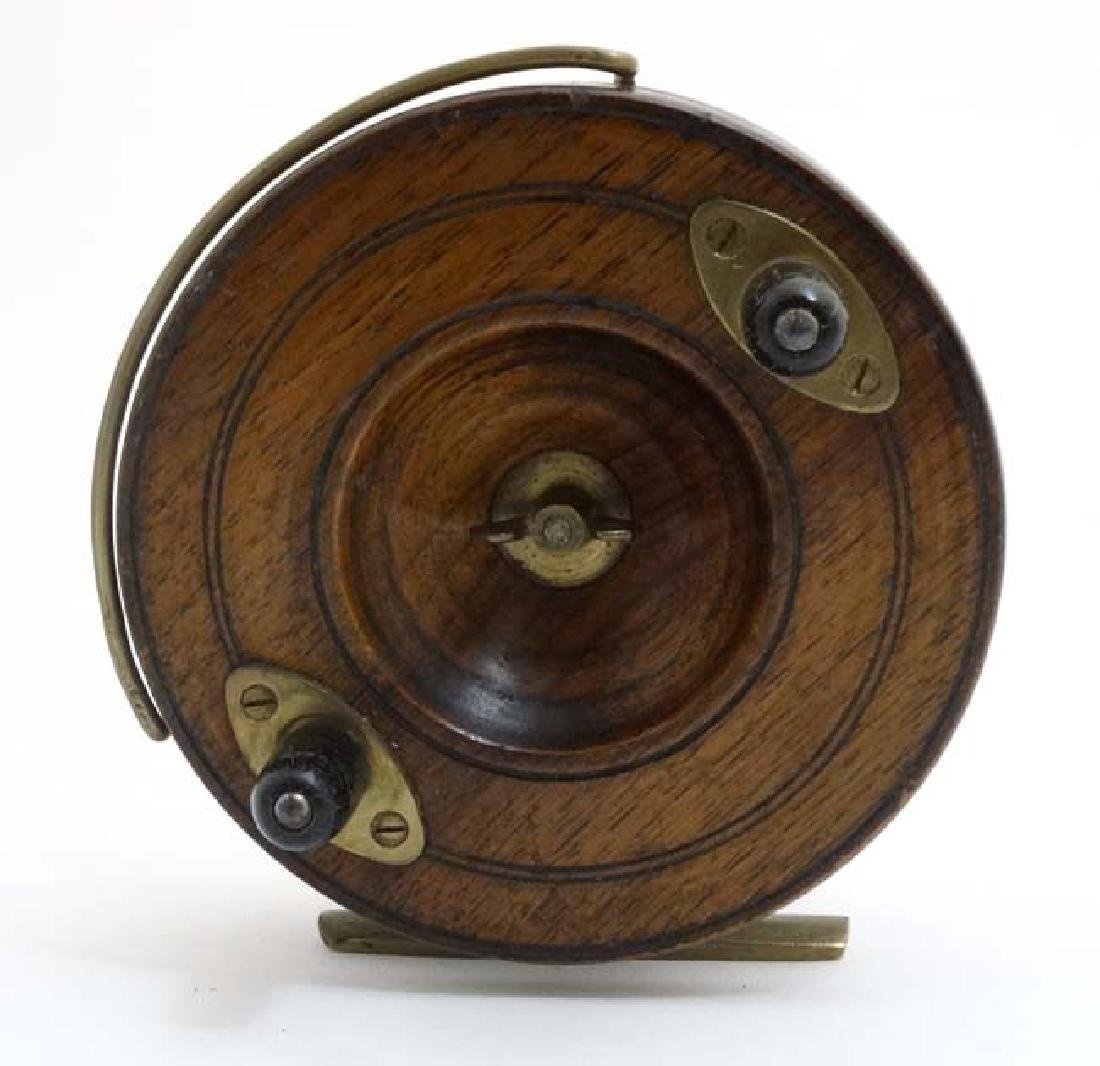 Fly Fishing : An old Salmon Fly Fishing Reel, a brass - 3