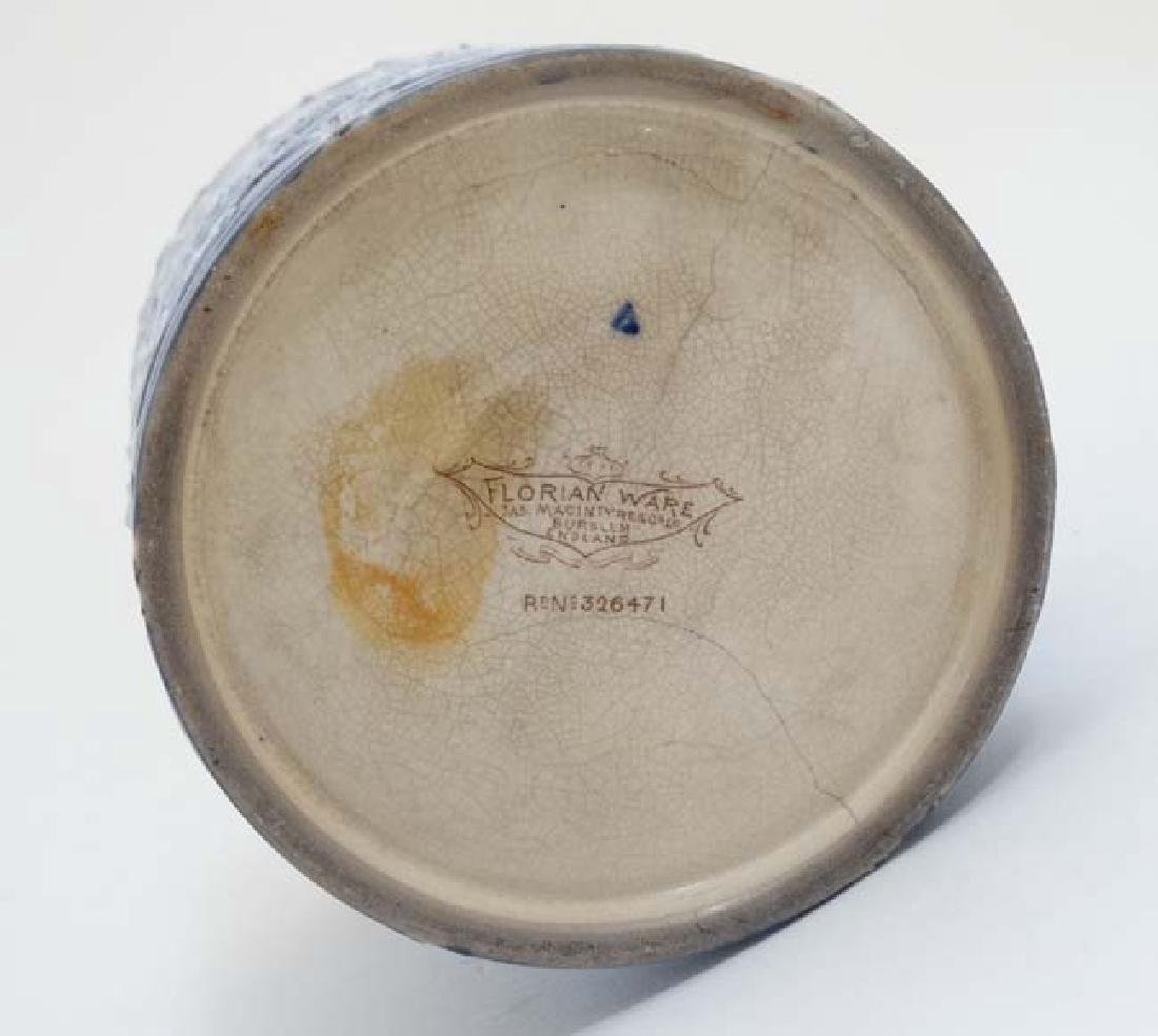 A c1900 Jas Macintyre & Co Ltd, Florian ware - 6