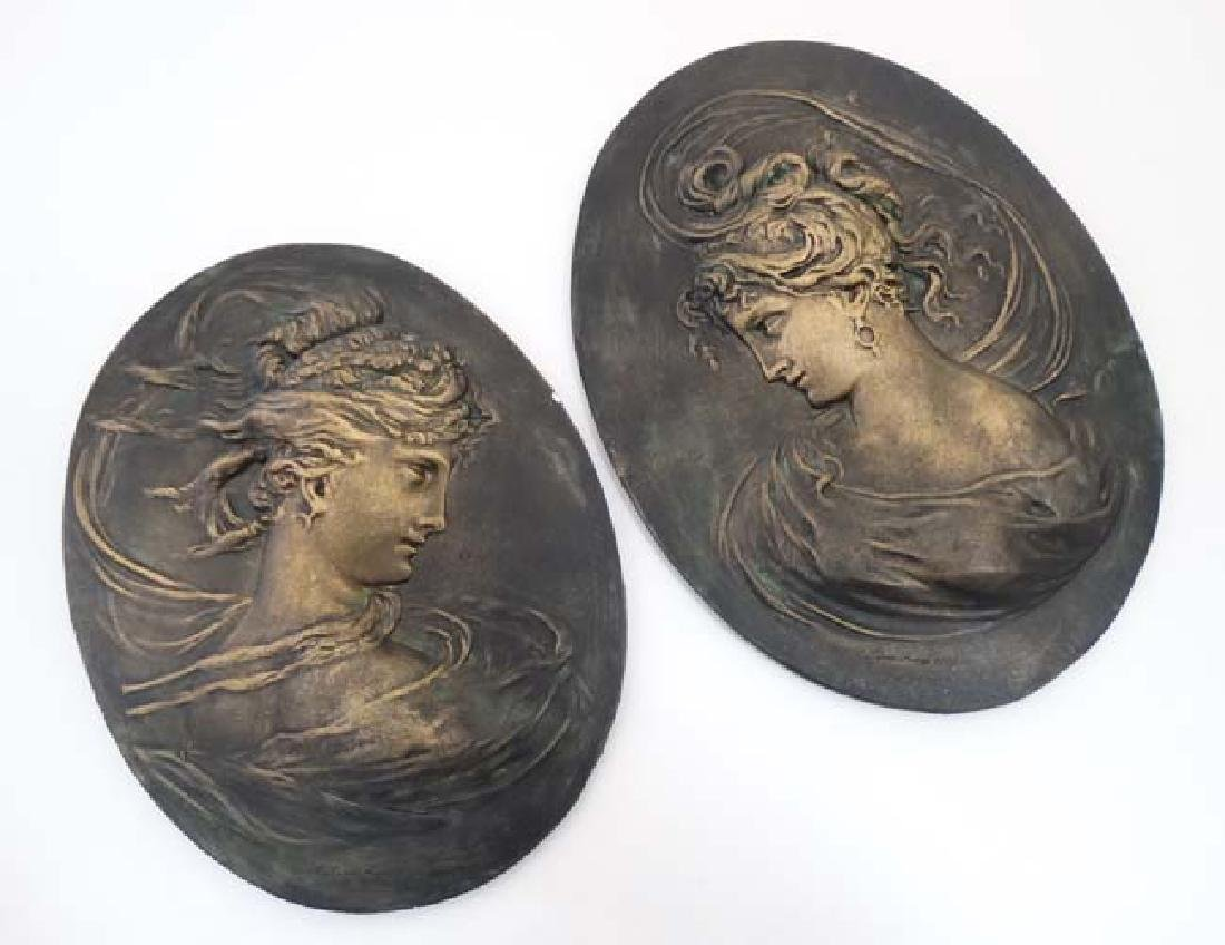 After C Lapini Firenzie 1888. A pair of 20thC ceramic
