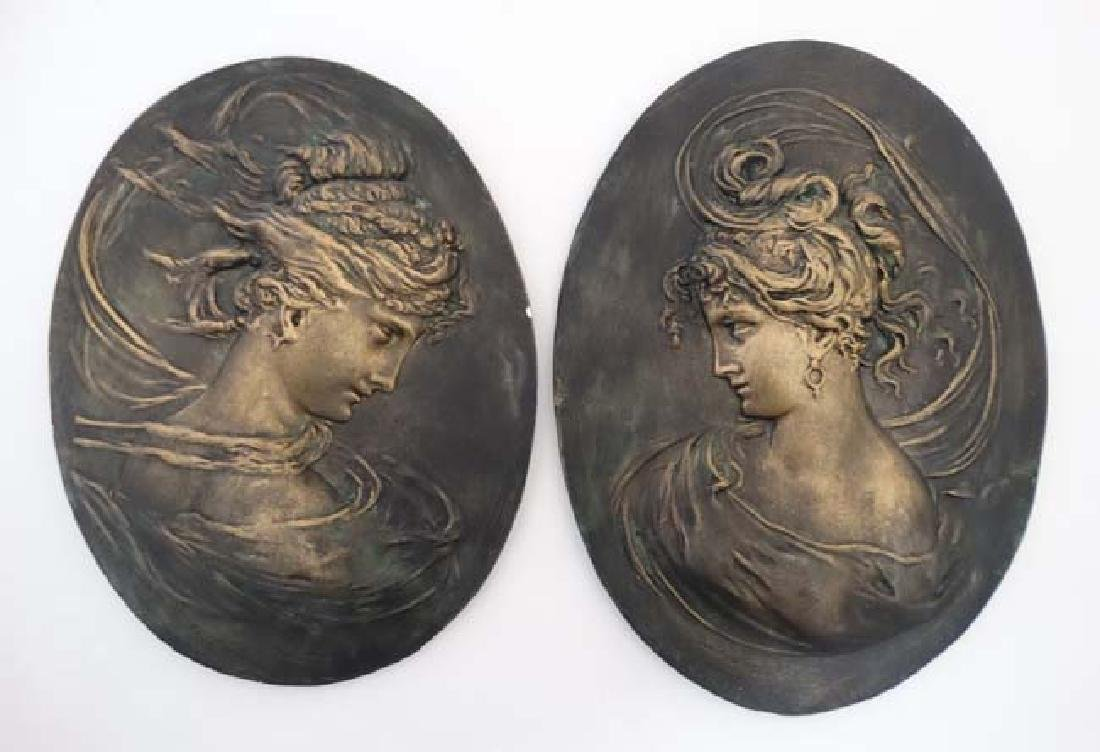 After C Lapini Firenzie 1888. A pair of 20thC ceramic - 3