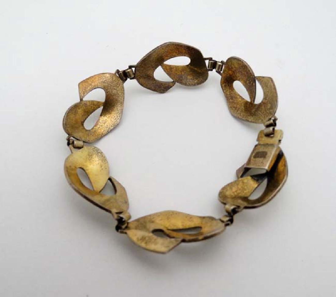 Scandinavian Jewellery : A silver gilt bracelet with - 2