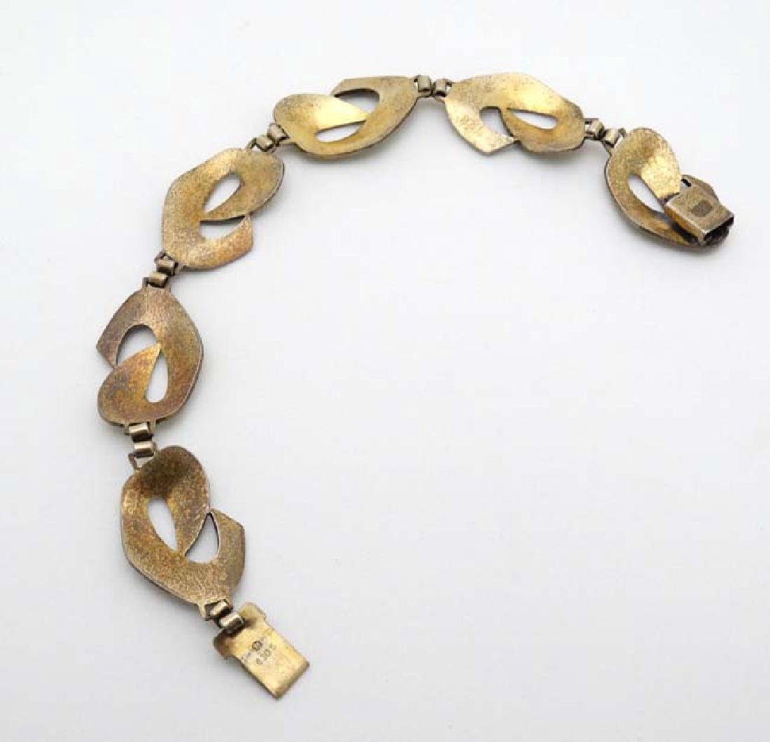 Scandinavian Jewellery : A silver gilt bracelet with - 3