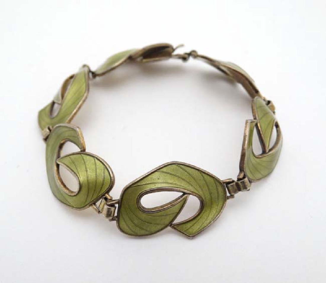 Scandinavian Jewellery : A silver gilt bracelet with - 6