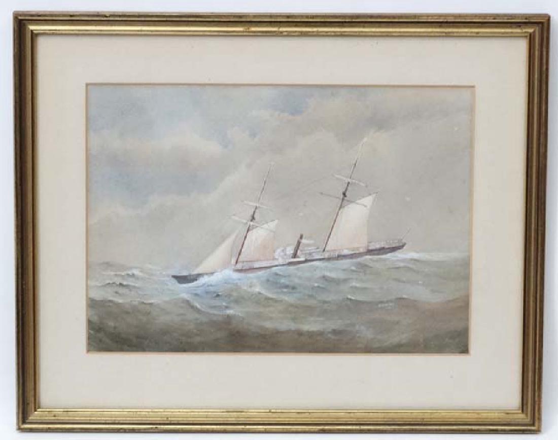 W Fleming 1874 Marine School, Watercolour and gouache,