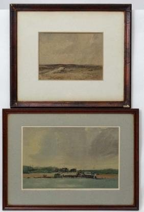 Oliver Hall, XX, Watercolour,  'On The Wharedale ? Fell