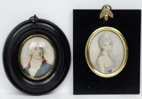 Miniature frames :, Two framed print miniatures ,  Ann