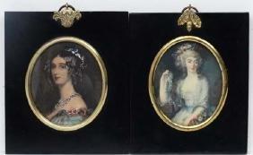 Miniature frames:, A matched pair of print miniature,