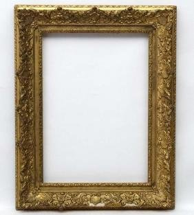 Gilt frame : an ornate XIX gilded gesso and wood frame