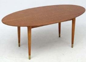 Vintage Retro / Art Deco : a 1950's oval Tiger Maple