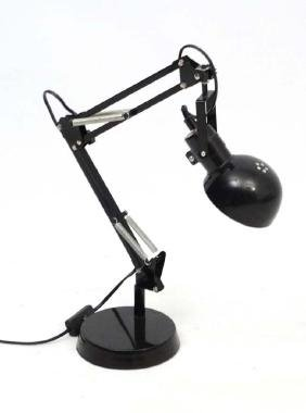 Vintage Retro : a black powder coated Adjustable Lamp ,