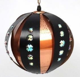 Vintage Retro : a Swedish Pendant Globe lamp / light