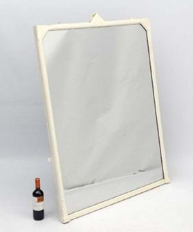 A painted 19thC over mantle mirror 53 1/2'' high x 40