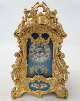 Rococo Revival Ormolu Repeater Alarm Carriage Clock : a