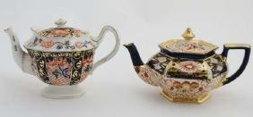 A c1900 Foley China Imari pattern tea pot , bears
