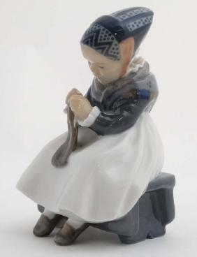 A c1965 Royal Copenhagen Figure of an Amager Girl