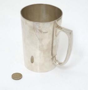 A silver plate tankard by WMF 5'' high